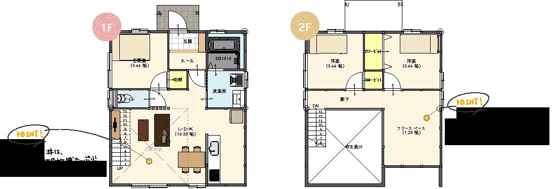 1.5階建て 間取り図